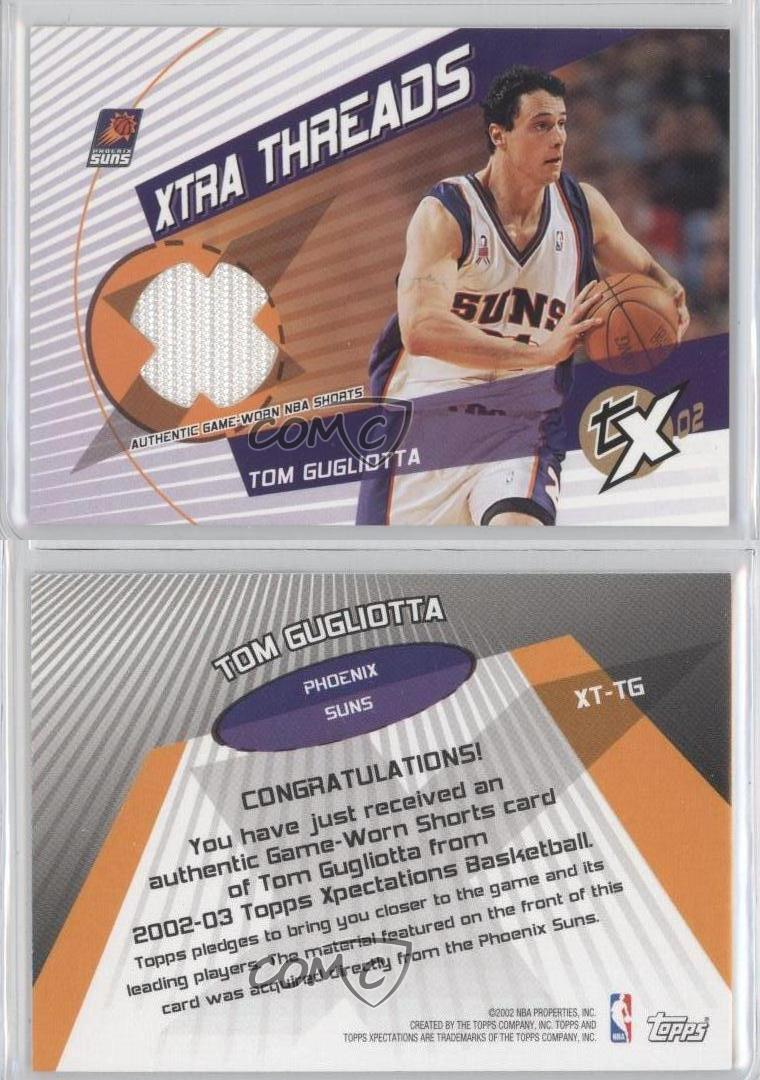 2002 03 Topps Xpectations Xtra Threads XT TG Tom Gugliotta