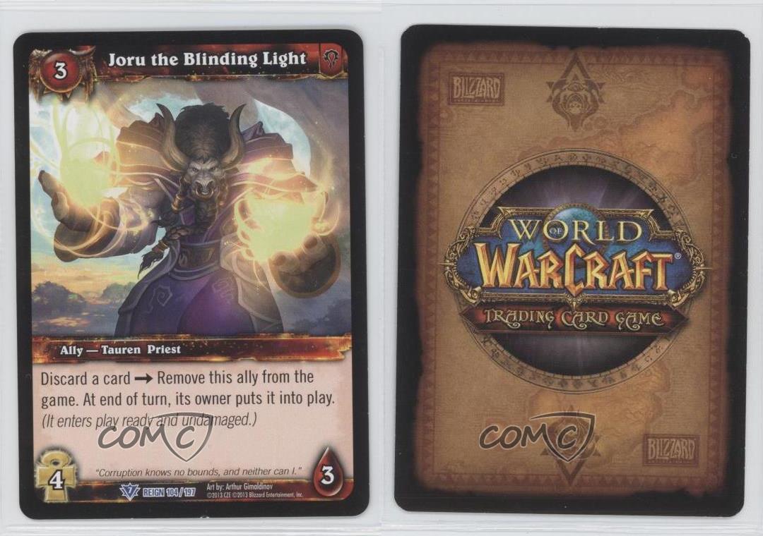 JORU THE BLINDING LIGHT X 4 WORLD OF WARCRAFT WOW TCG REIGN OF FIRE