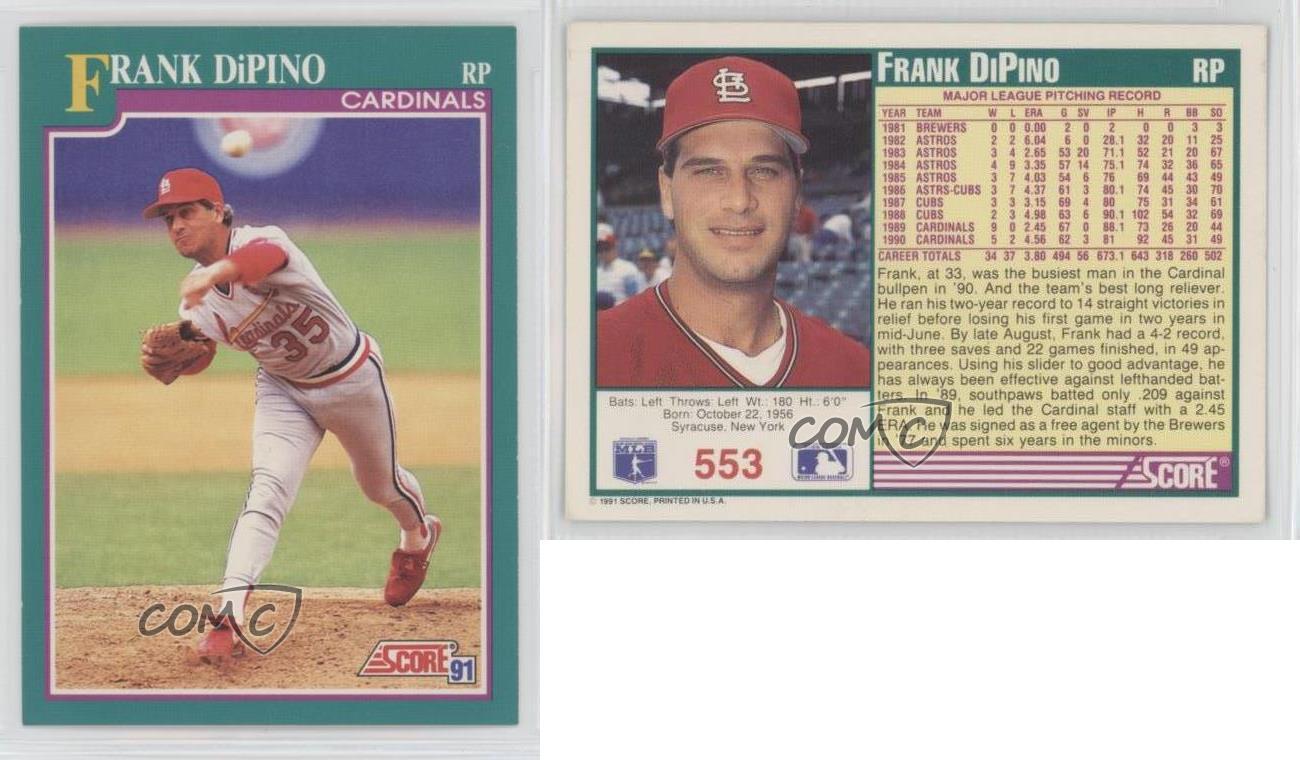 Frank DiPino 1991 Topps # 112 NM//MT Baseball Card