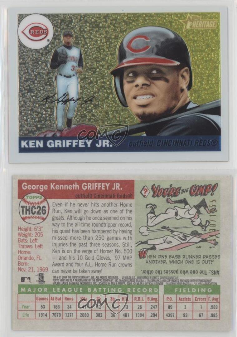 a23299ade9 2004 Topps Heritage Chrome #THC26 Ken Griffey Jr Cincinnati Reds Jr ...