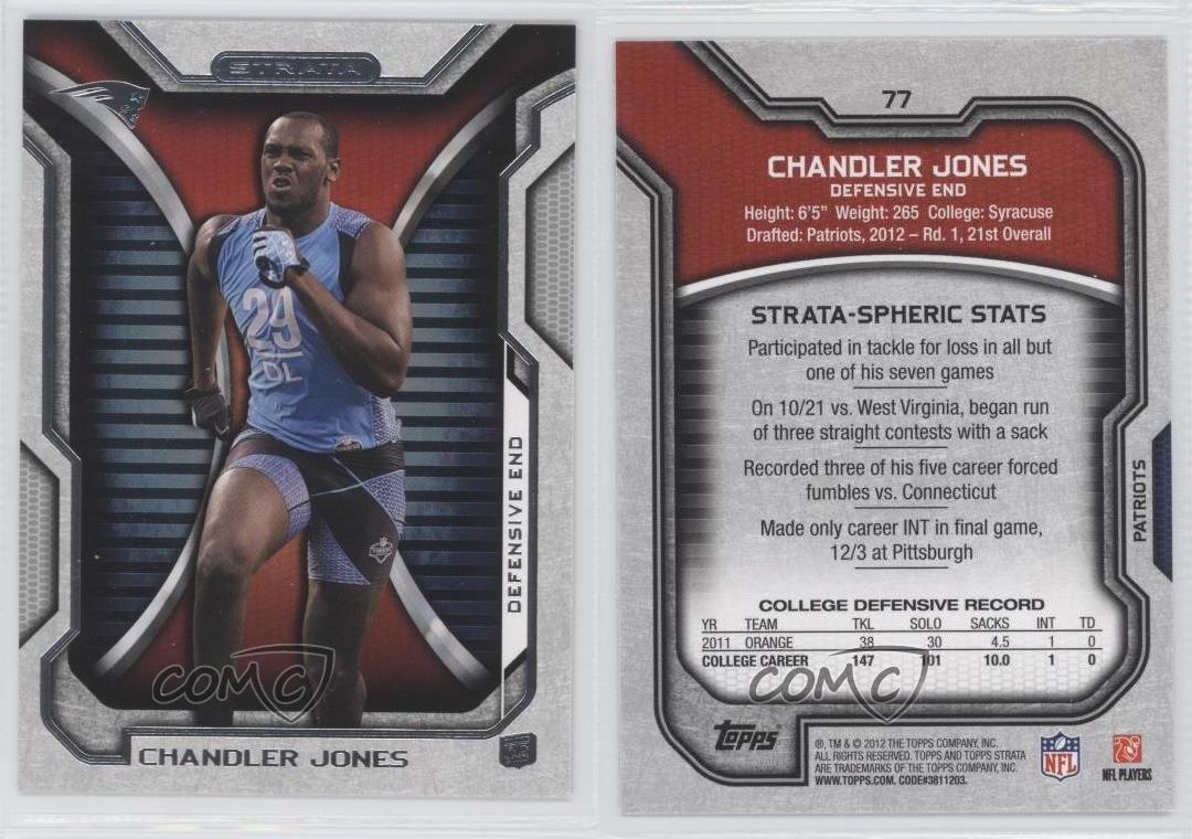 2012-Topps-Strata-Retail-77-Chandler-Jones-New-England-Patriots-Football-Card