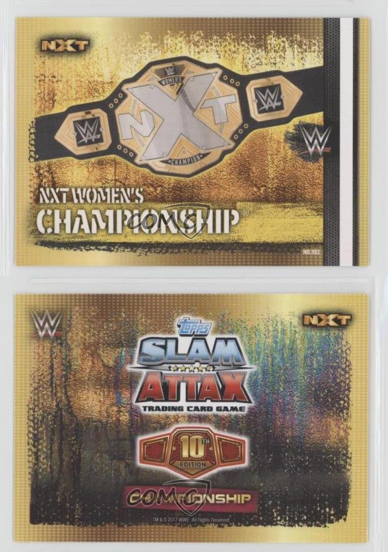 Wwe Slam Attax 10th Edition-Nº 348-Smackdown Women s Championship-Belt