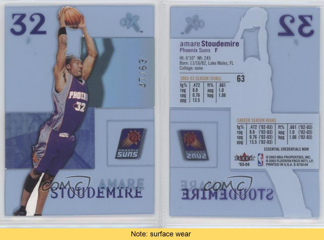 2003-E-X-Essential-Credentials-Now-63-Amar-039-e-Stoudemire-Phoenix-Suns-Amare-Card