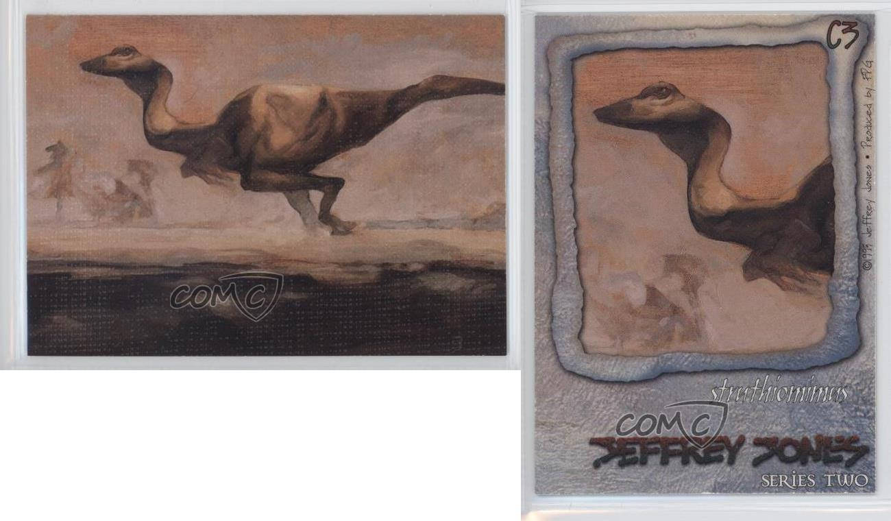 Jeffrey Jones Series 2 Canvas Card # C3 Excellent Condition. Struthiomimus