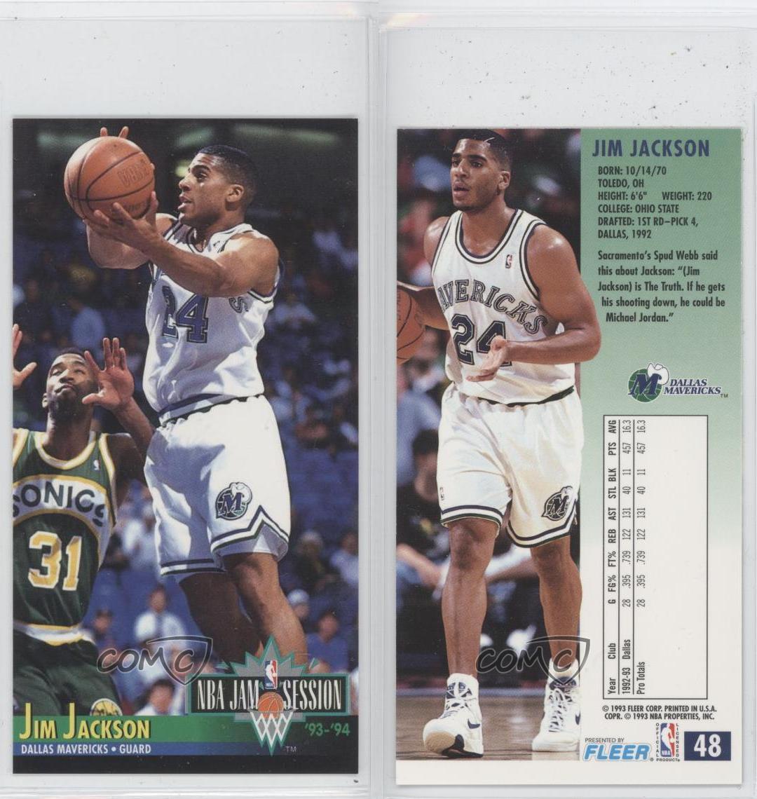 1993-94 NBA Jam Session #48 Jim Jackson Dallas Mavericks