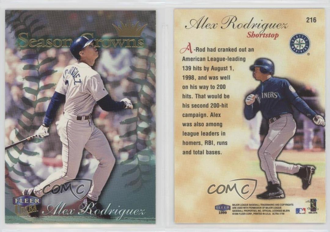 Details About 1999 Fleer Ultra 216 Alex Rodriguez Seattle Mariners Baseball Card