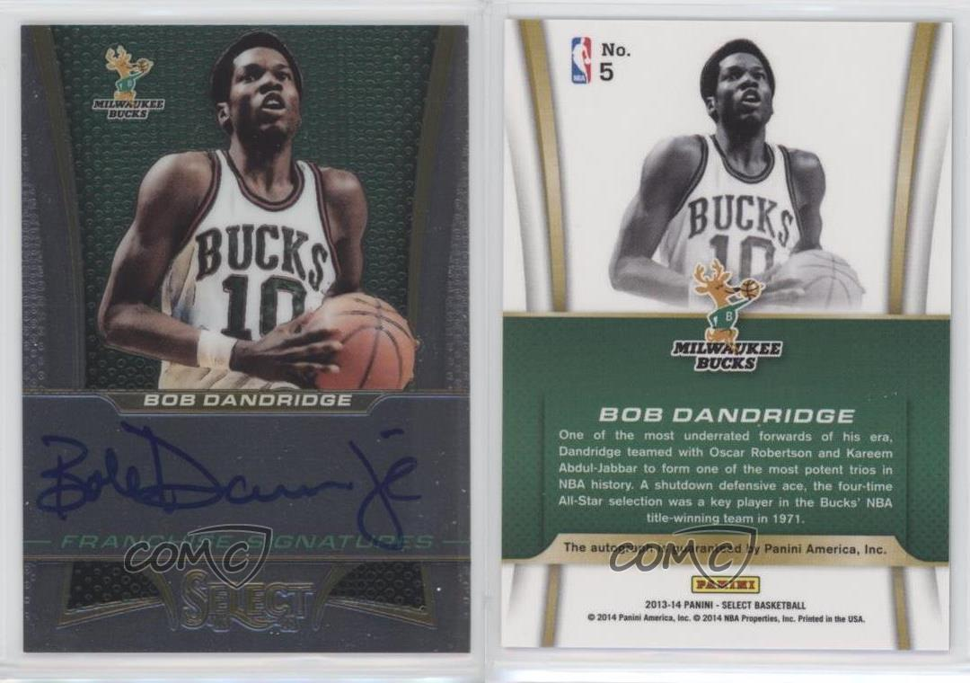 2013 14 Panini Select Franchise Signatures 5 Bob Dandridge