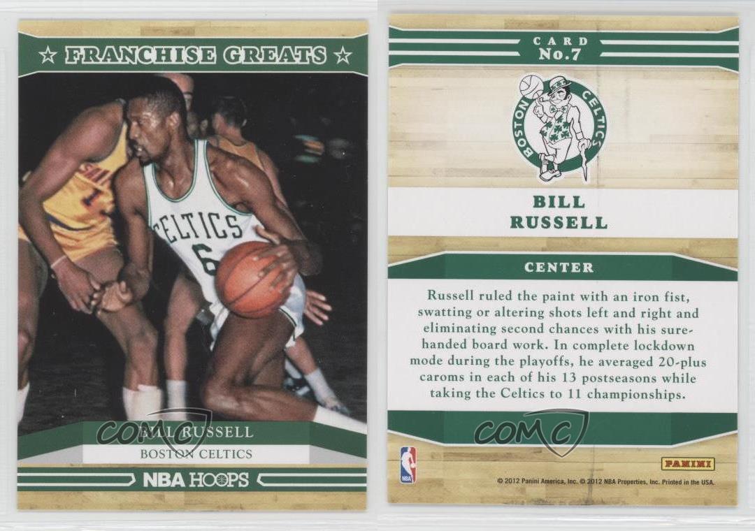 2012-13-NBA-Hoops-Franchise-Greats-7-Bill-Russell-Boston-Celtics-Basketball-Card