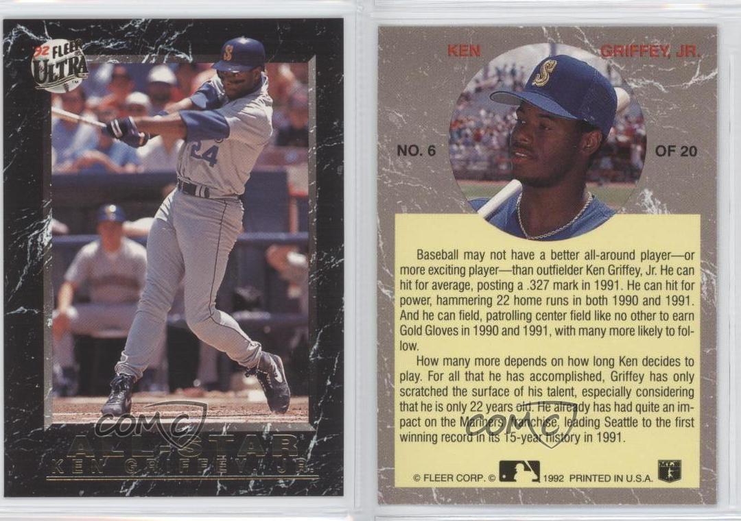 3c3c869acc 1992 Fleer Ultra All-Star #6 Ken Griffey Jr Seattle Mariners Jr. Baseball