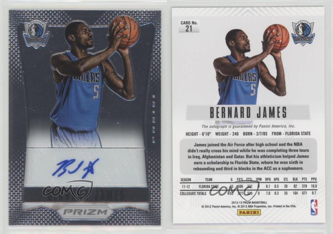2012-Panini-Prizm-Autographs-21-Bernard-James-Dallas-Mavericks-Auto-Rookie-Card
