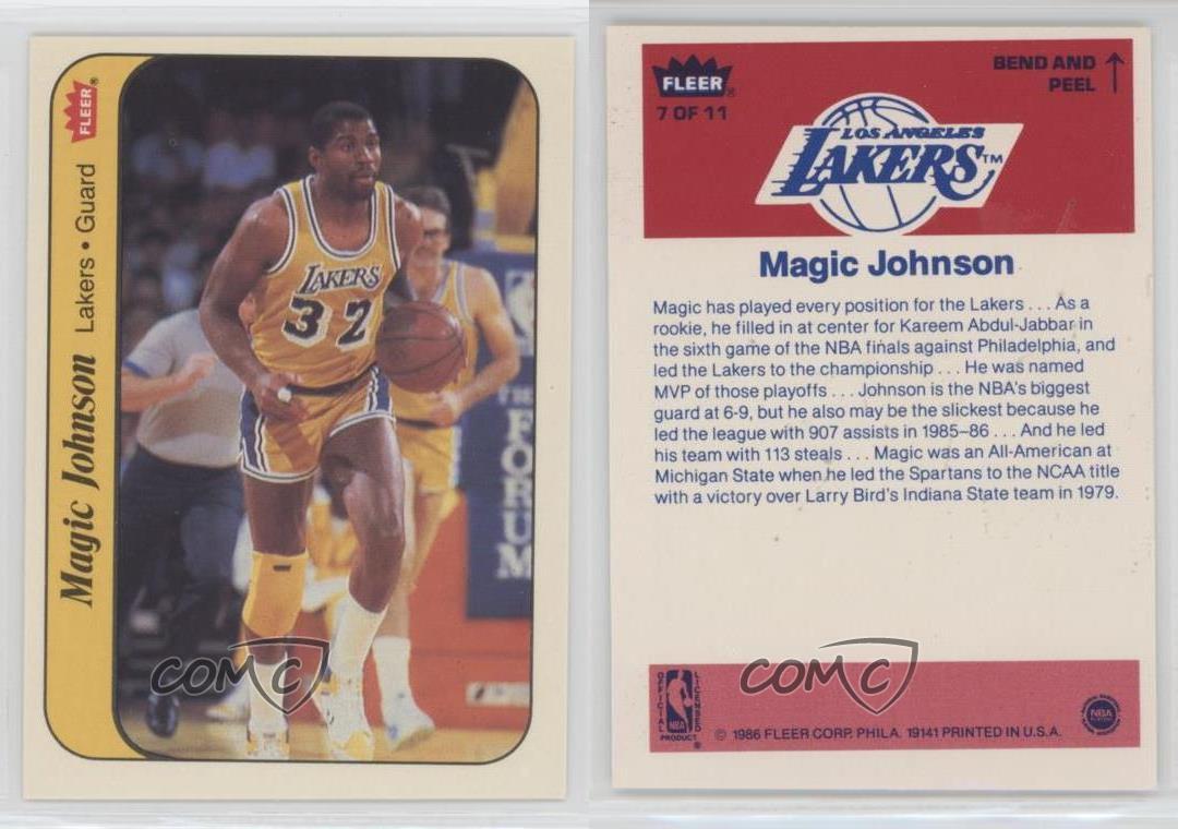 1986-87-Fleer-Stickers-7-Magic-Johnson-Los-Angeles-Lakers-Basketball-Card