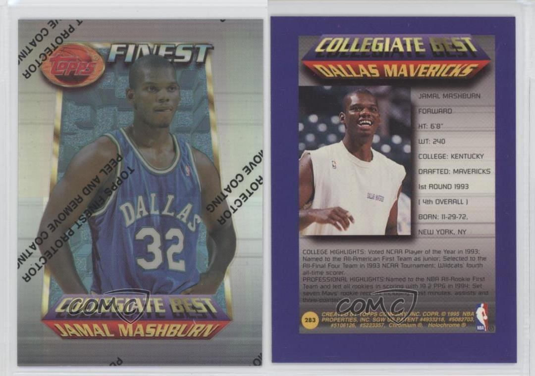 1994 Topps Finest Refractor 283 Jamal Mashburn Dallas Mavericks