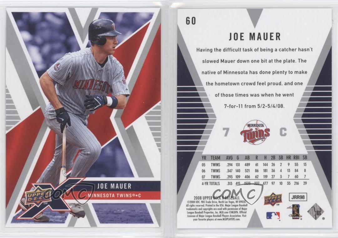 2008-Upper-Deck-X-60-Joe-Mauer-Minnesota-Twins-Baseball-Card