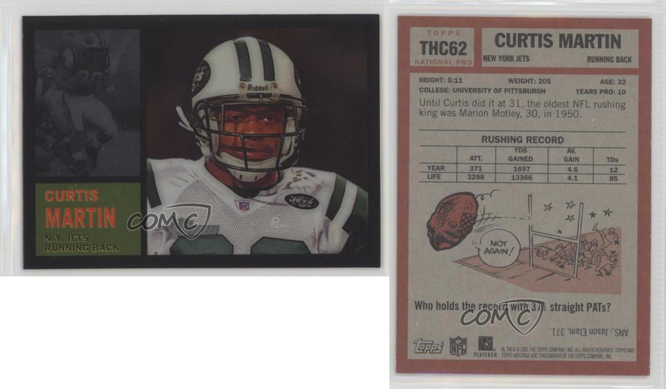 2005-Topps-Heritage-Chrome-THC62-Curtis-Martin-New-York-Jets-Football-Card