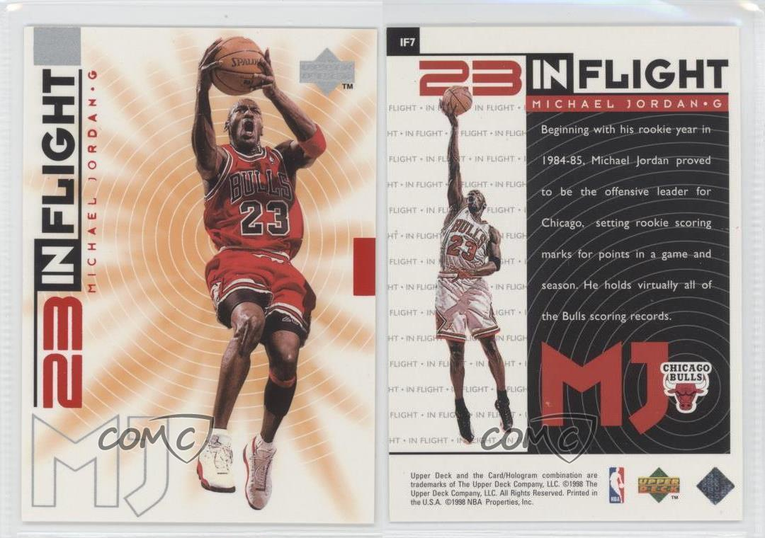 1998-Upper-Deck-Living-Legend-23-In-Flight-IF7-Michael-Jordan-Chicago-Bulls-Card