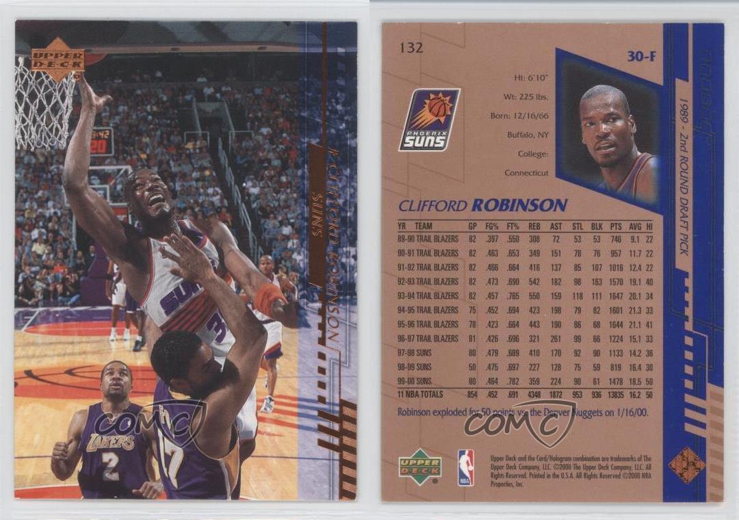 2000 01 Upper Deck 132 Clifford Robinson Phoenix Suns Basketball