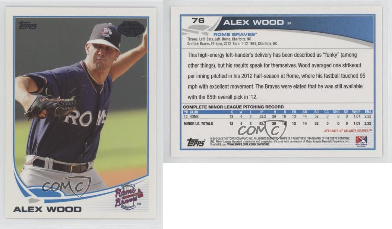 2013-Topps-Pro-Debut-76-Alex-Wood-Rome-Braves-Rookie-Baseball-Card