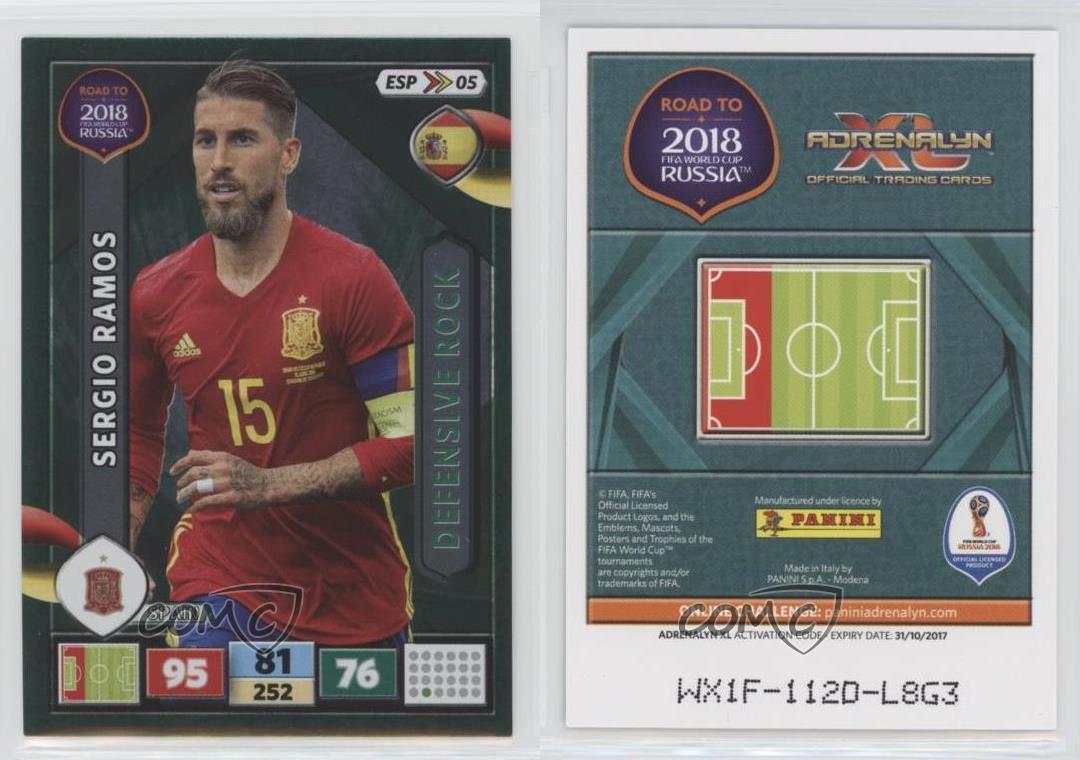 PANINI ADRENALYN ROAD World Cup Brazil 76-Sergio Ramos-BASE CARD