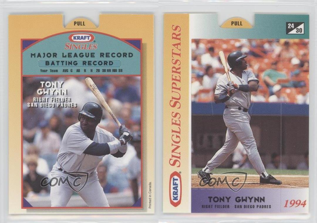 gwynn singles Tony gwynn was easily one of baseball's best pure hitters of all time he was no mere singles hitter, however: he hit a lot of doubles and triples.