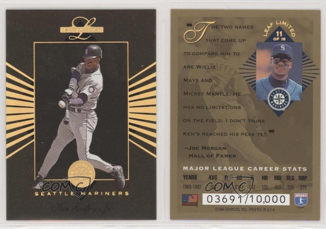 1994 Leaf Limited Gold All-Stars//10000 #11 Ken Griffey Jr Seattle Mariners Card
