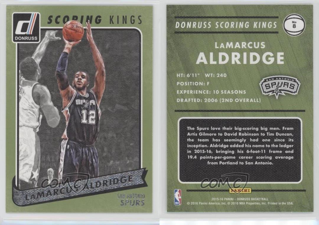 puntuación Kings baloncesto cards!!! 2015-16 Panini Donruss