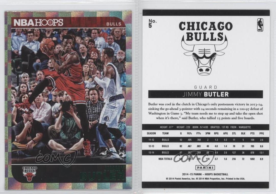 2014-15-NBA-Hoops-Green-5-Jimmy-Butler-Chicago-Bulls-Basketball-Card