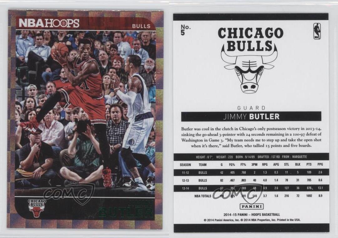 2014-15-NBA-Hoops-Green-5-Jimmy-Butler-Chicago-Bulls-Basketball-Card