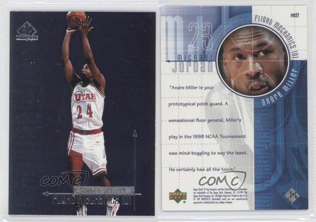 1999-SP-Top-Prospects-MJ-Flight-Mechanics-101-FM27-Andre-Miller-Michael-Jordan