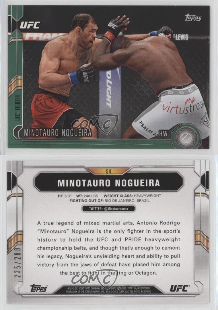 2015-Topps-UFC-Chronicles-Green-54-Minotauro-Nogueira-MMA-Card