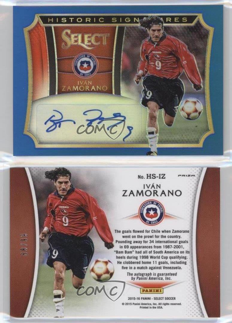 2015-2015-16-Panini-Select-Historic-Signatures-Blue-HS-IZ-Ivan-Zamorano-Auto