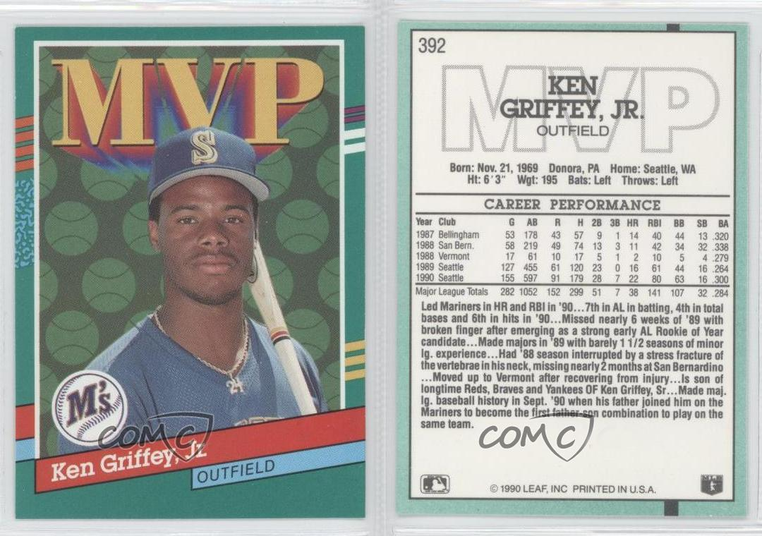 3b35d66c3a 1991 Donruss #392 Ken Griffey Jr Seattle Mariners Jr. Baseball Card ...