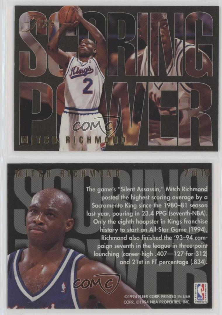 1994-95-Flair-Scoring-Power-7-Mitch-Richmond-Sacramento-Kings-Basketball-Card