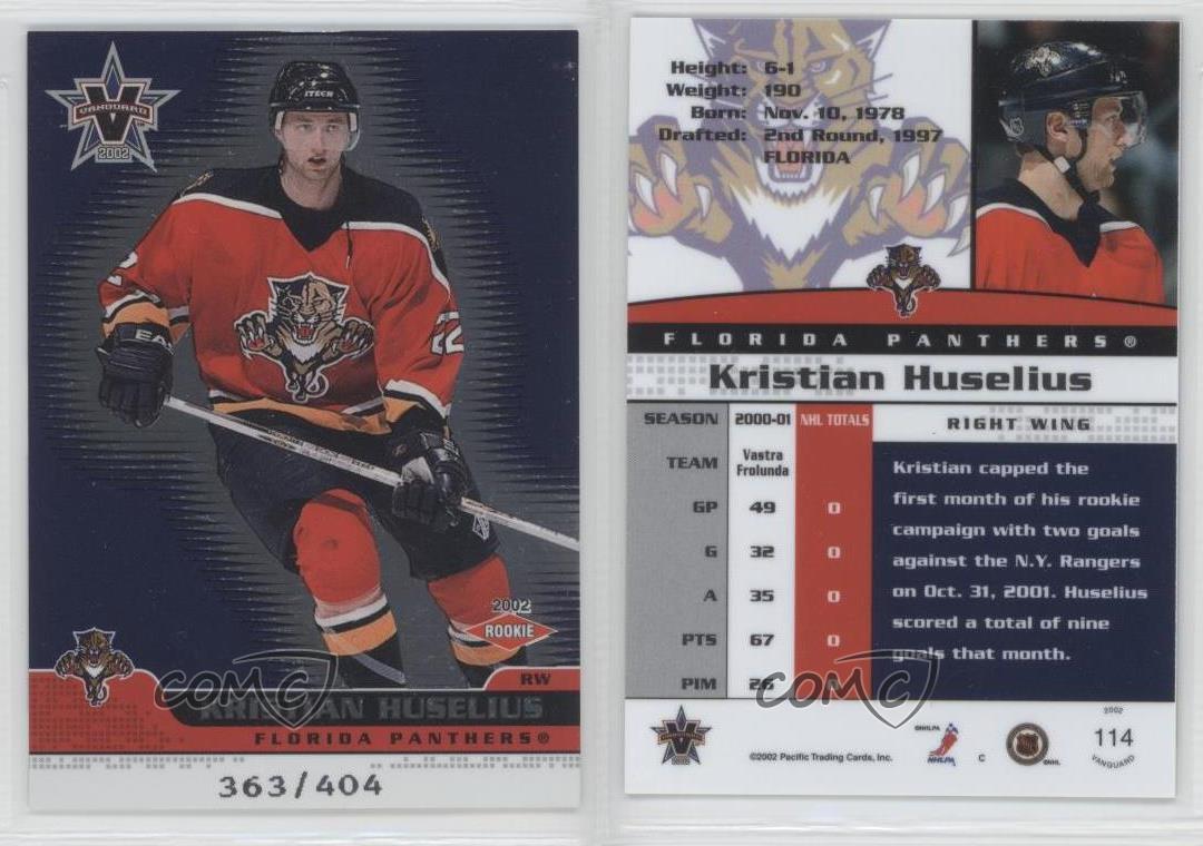2001-Pacific-Vanguard-114-Kristian-Huselius-Florida-Panthers-Rookie-Hockey-Card