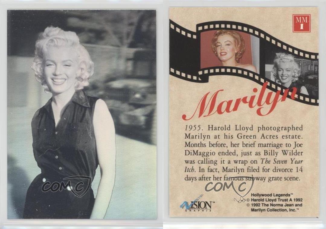 Marilyn Monroe 1992 Vision Graphix Harold Lloyd Collection Prototype Hologram
