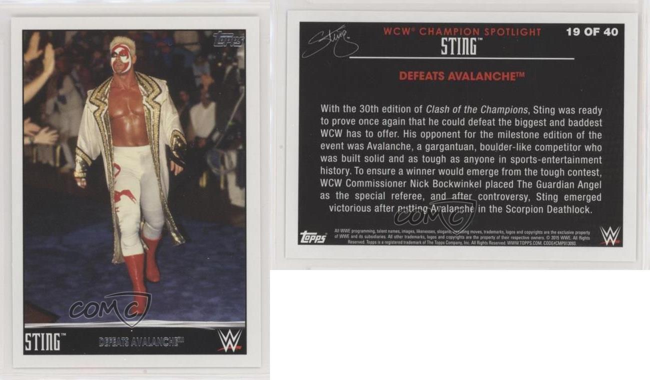 2015 Topps WWE Sting Champion Spotlight #16 Defeats Rick Rude