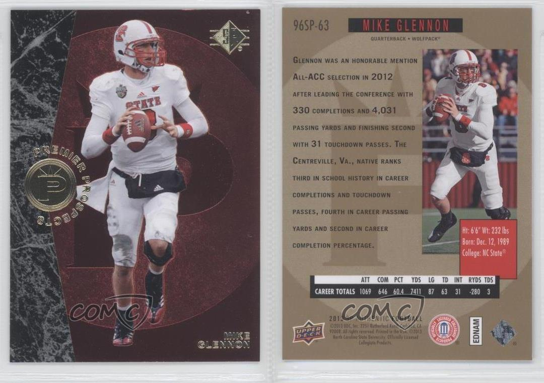 2013-SP-Authentic-1996-Design-96SP-63-Mike-Glennon-North-Carolina-State-Wolfpack