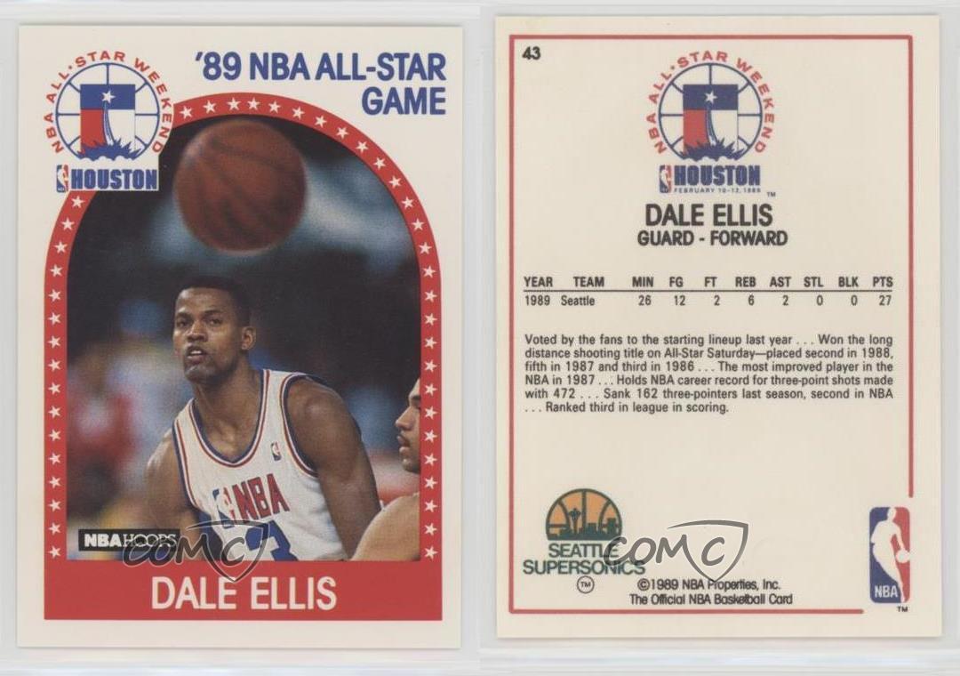1989 NBA Hoops 43 All Star Game Dale Ellis Seattle Supersonics