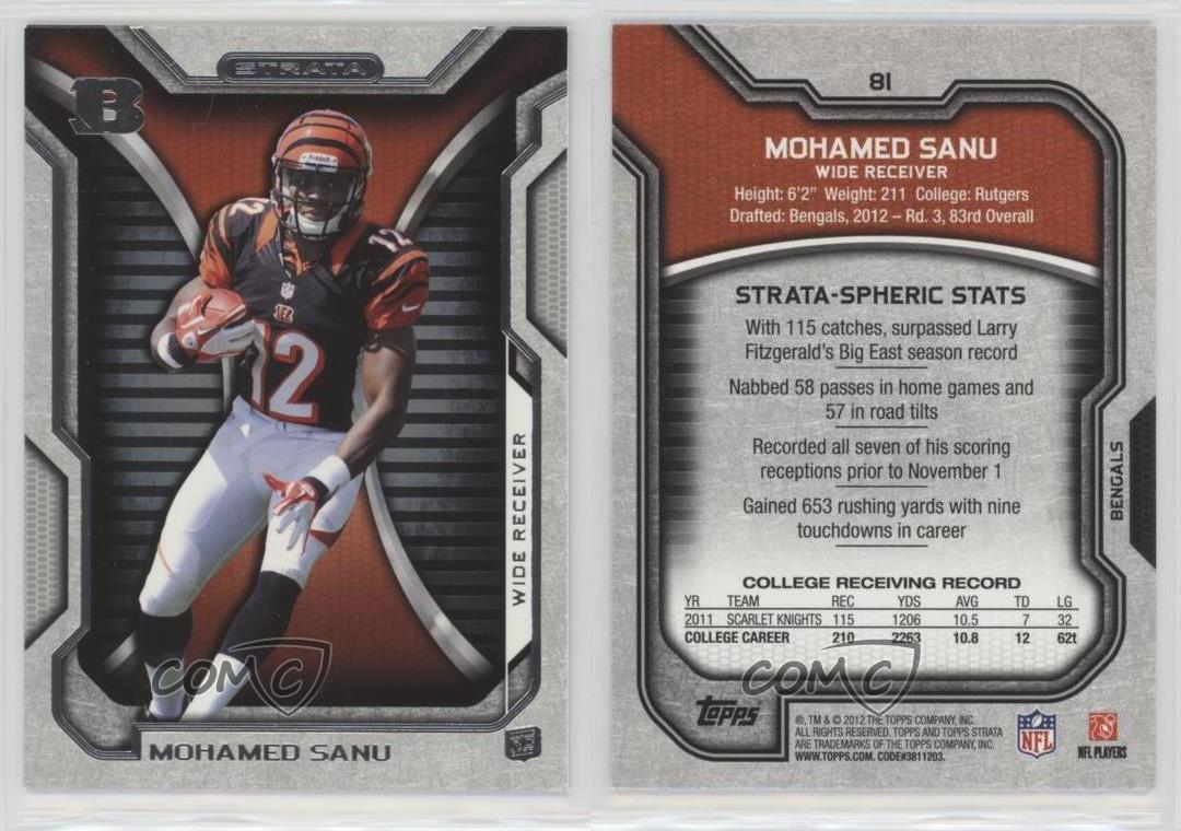 2012-Topps-Strata-81-Mohamed-Sanu-Cincinnati-Bengals-RC-Rookie-Football-Card