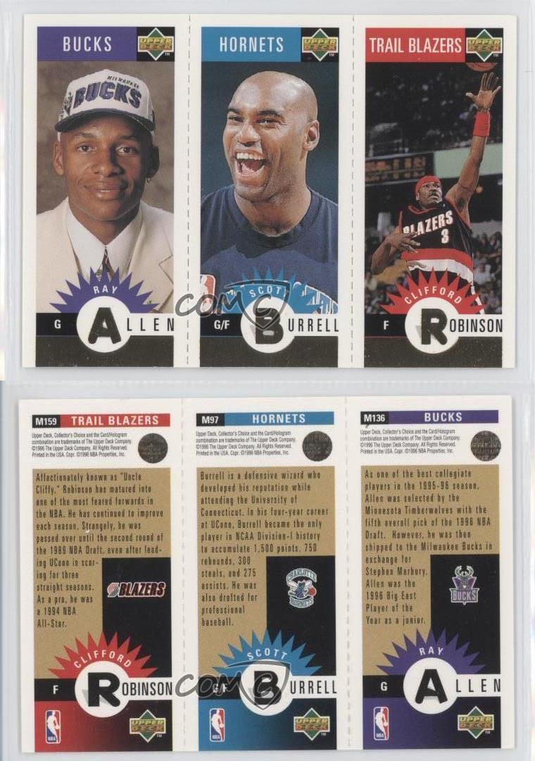 1996 Upper Deck Mini Cards Gold MRBA Ray Allen Scott Burrell