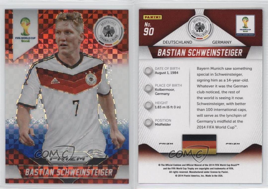 Panini Prizm Copa Wold 2014 Matchups #14 Bastian Schweinsteiger /& Nani