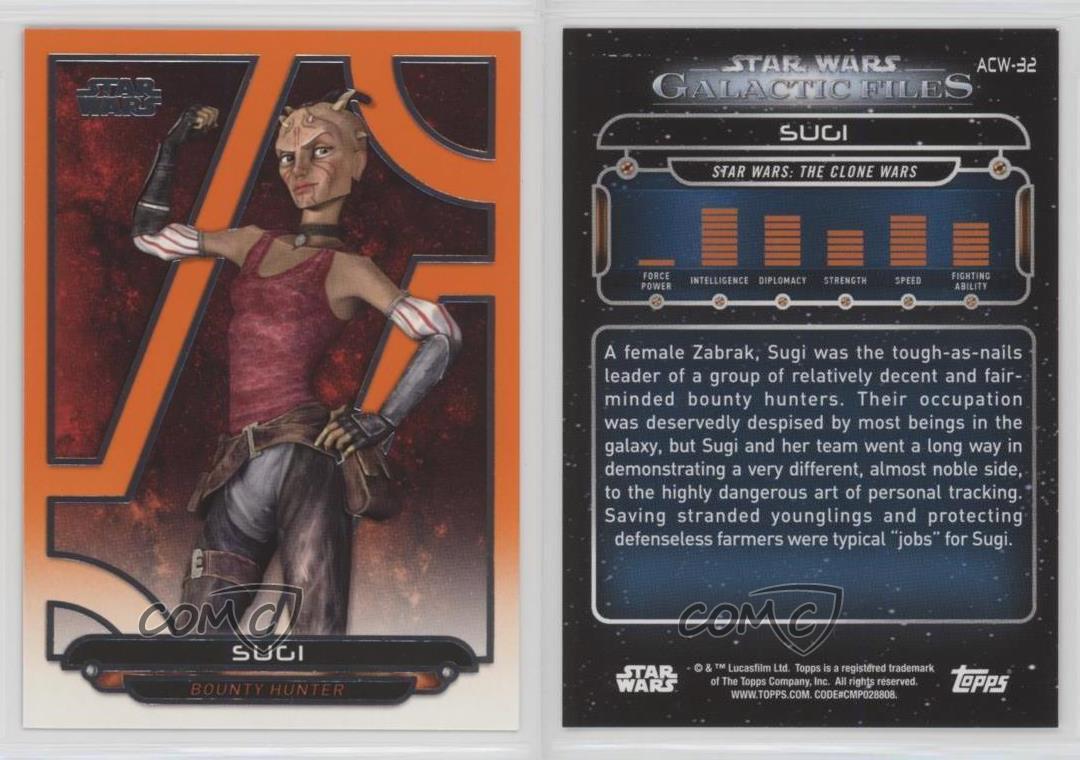 Women Of Star Wars Orange Base Card #83 Sugi