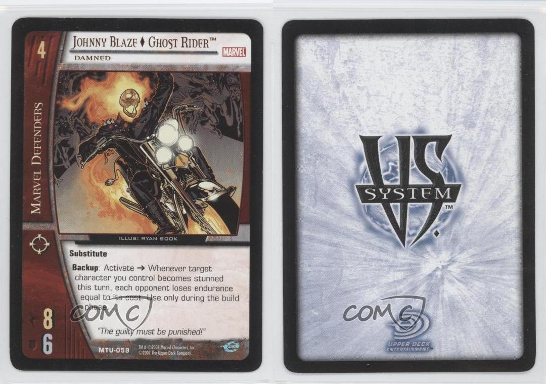 2007 Marvel Upper Deck Trading Card MTU-059 Johnny Blaze Ghost Rider