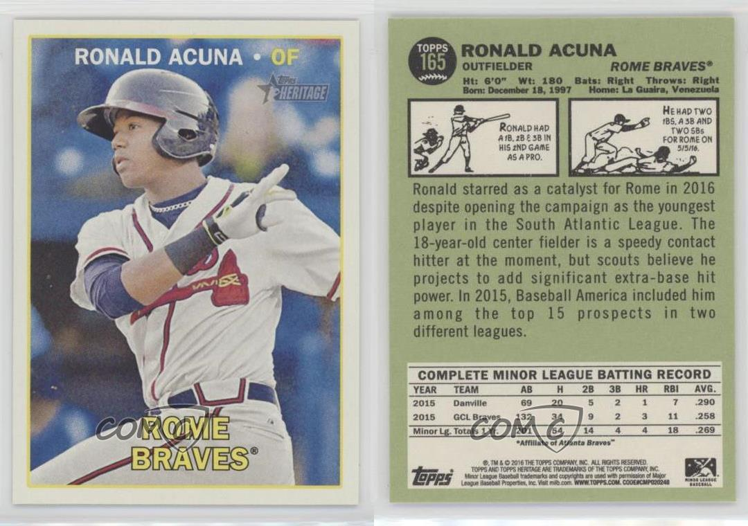 2016-Topps-Heritage-Minor-League-Edition-165-Ronald-Acuna-Rome-Braves-Card