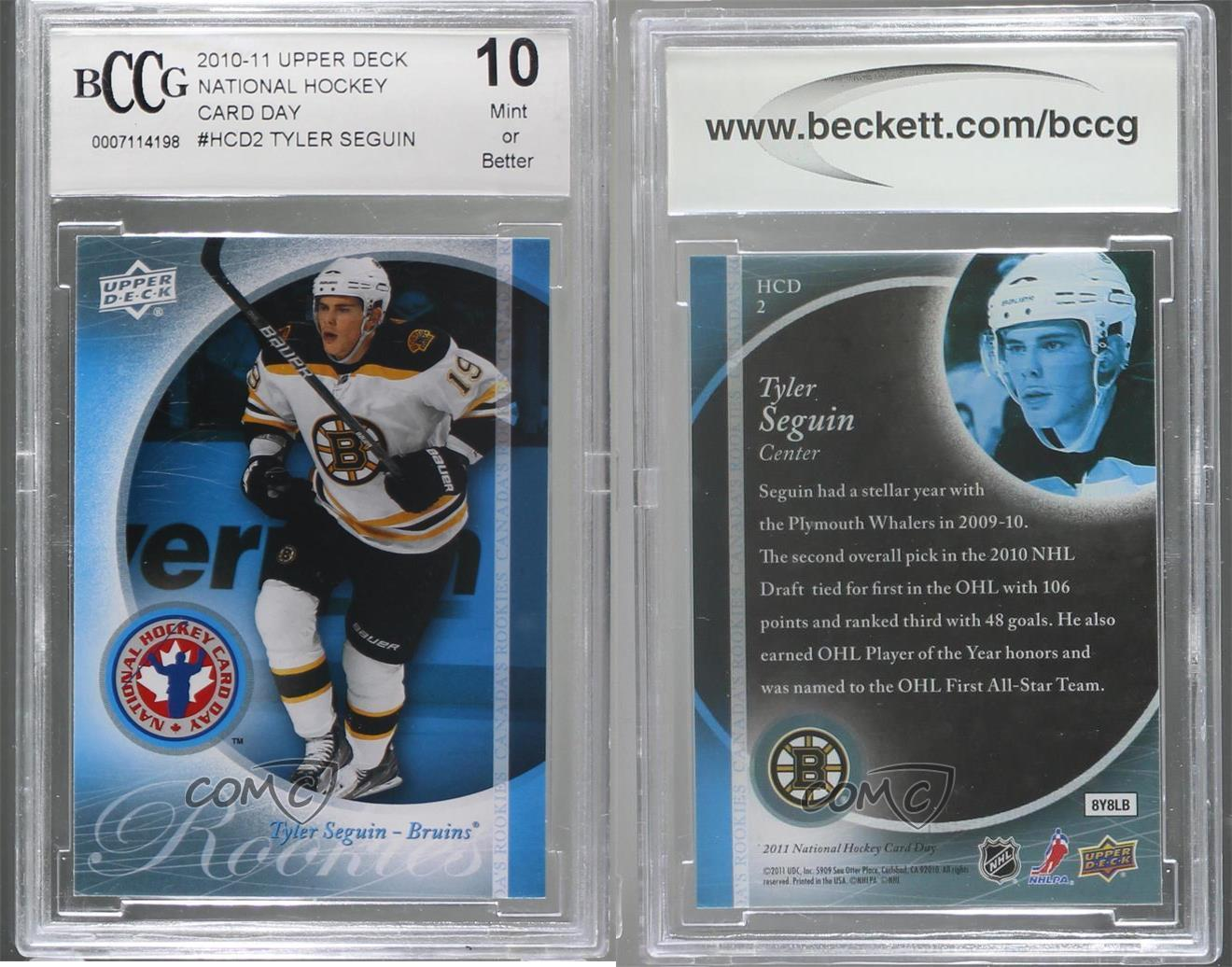 2010-11 score #561 TYLER SEGUIN rc rookie BGS BCCG 10 Graded Card