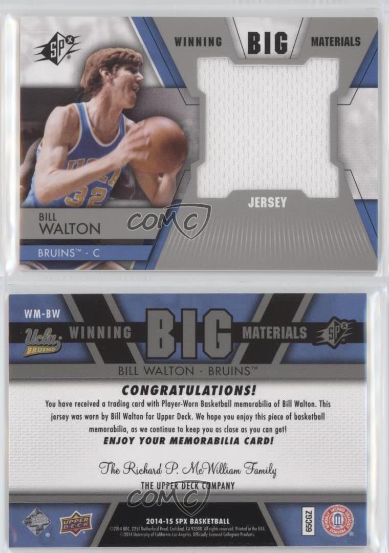 2014-15-SPx-Winning-Big-Materials-WM-BW-Bill-Walton-UCLA-Bruins-Basketball-Card
