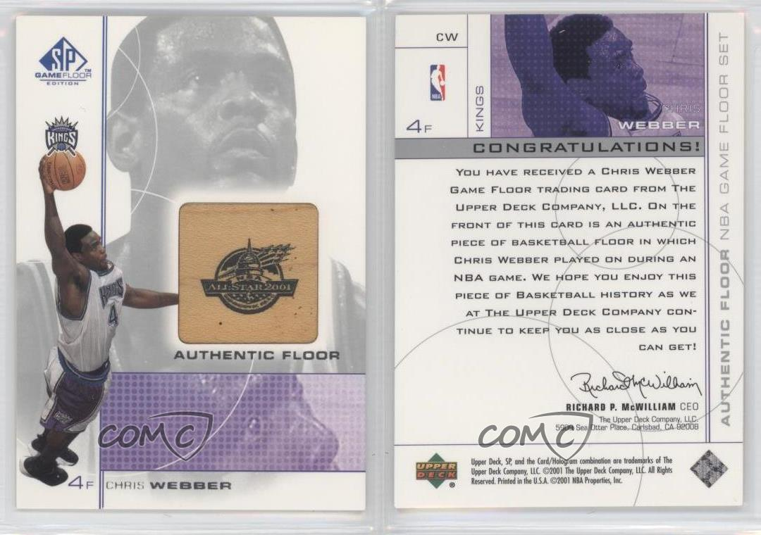 2000-01-SP-Game-Floor-Edition-Authentic-CW-Chris-Webber-Sacramento-Kings-Card