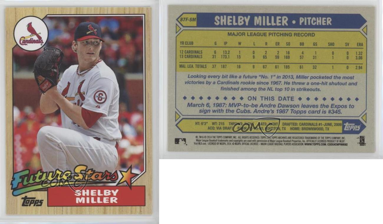 2014-Topps-Archives-1987-Future-Stars-87F-SM-Shelby-Miller-St-Louis-Cardinals