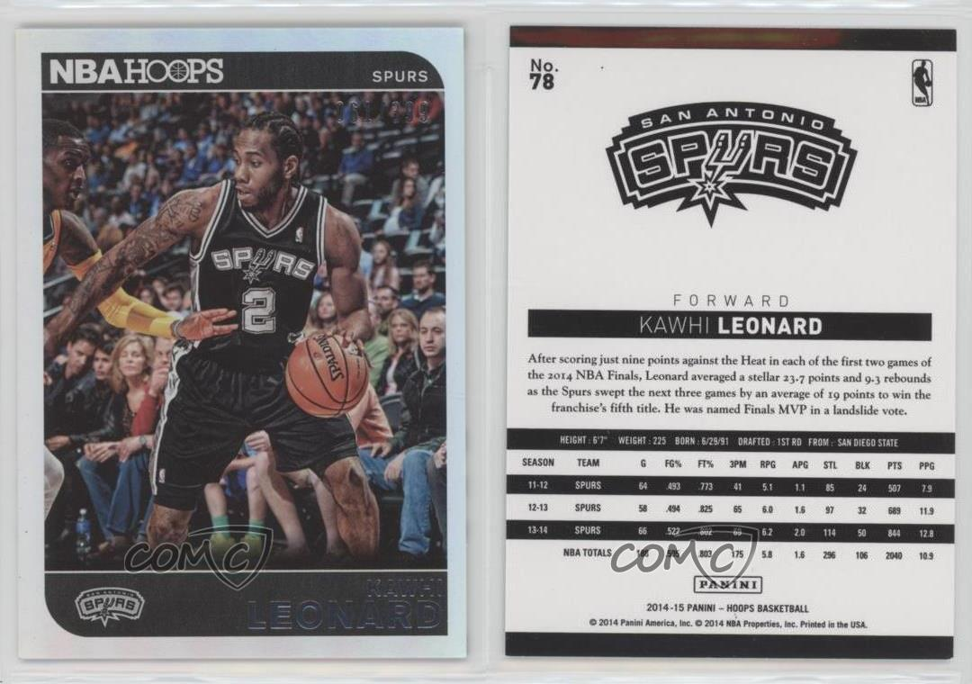2014-15-NBA-Hoops-Silver-78-Kawhi-Leonard-San-Antonio-Spurs-Basketball-Card