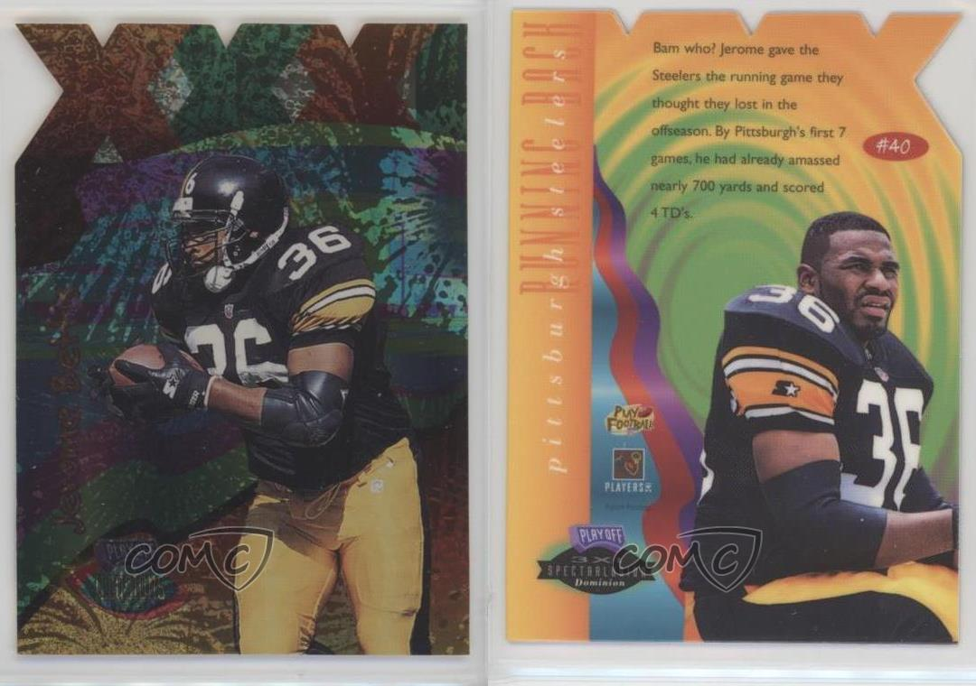 1996-Playoff-Illusions-3XI-Spectralusion-Dominion-40-Jerome-Bettis-Football-Card