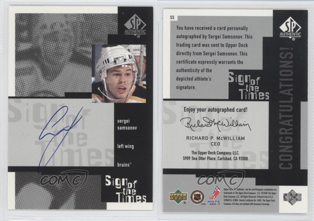 1999-00-SP-Authentic-Sign-of-the-Times-Autographed-SS-Sergei-Samsonov-Auto-Card